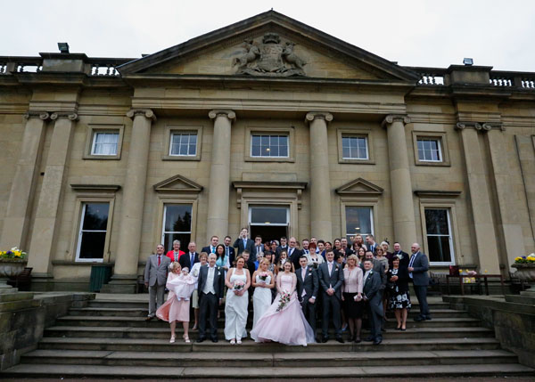 group shot outside wortley hall hotel sheffield