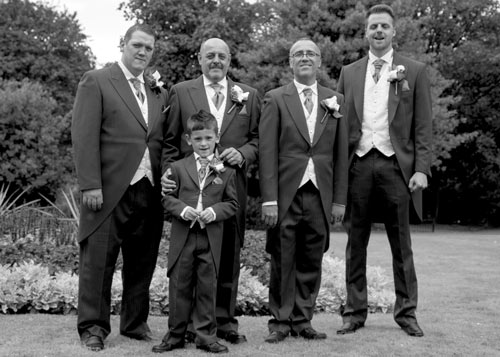 Groomsmen in clifton park black and white photography