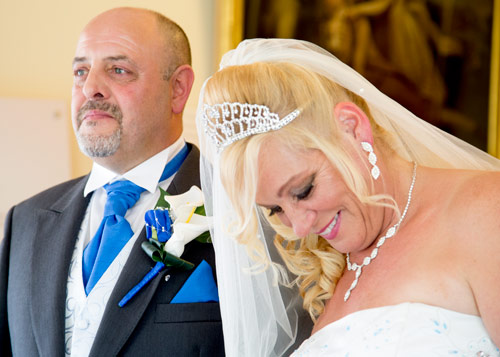 Bride and groom during wedding ceremony at clifton park museum rotherham barnsley photographer