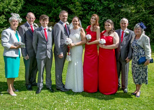 The wedding party at the stables doncaster