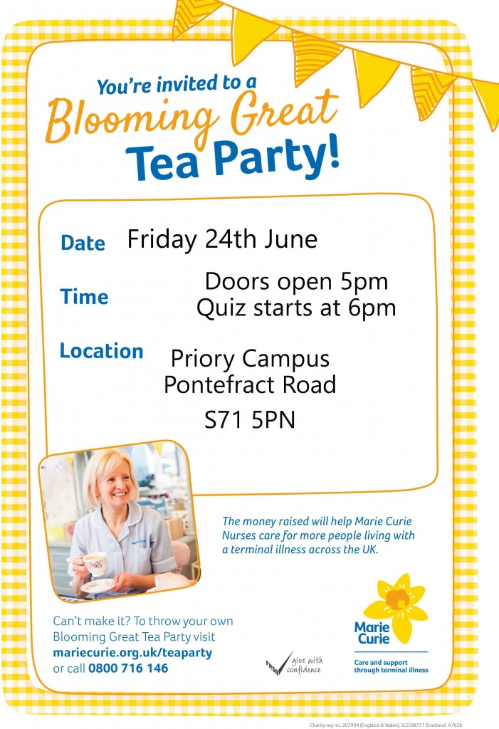 Blooming Great Tea Party Poster
