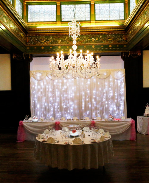 The wedding breakfast room at wortley hall hotel sheffield