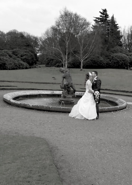 groom kissing bride on forehead at wortley hall sheffield wedding photographer
