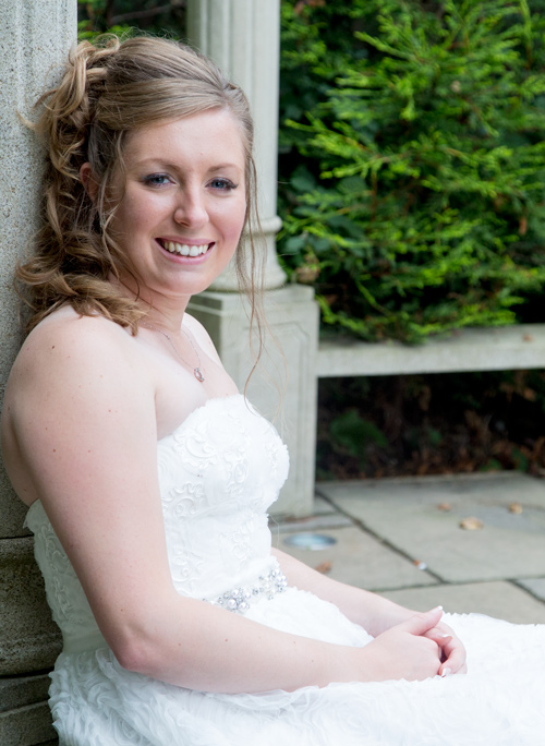 Bride in the secret garden of holiday inn barnsley
