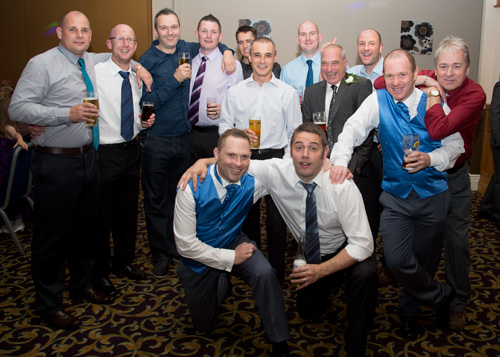 The men of the wedding receeption holiday inn barnsley