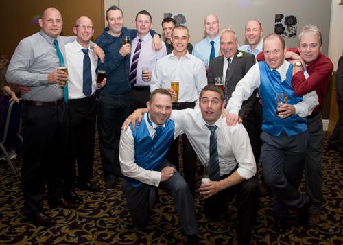 The men of the wedding receeption holiday inn barnsley