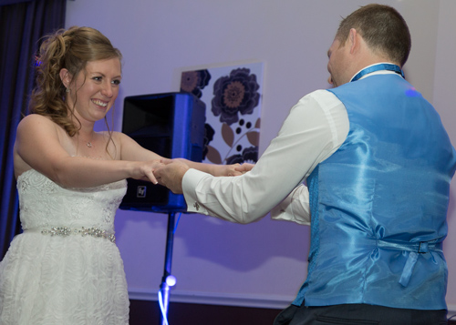 bride and groom in their first dance barnsley photographer