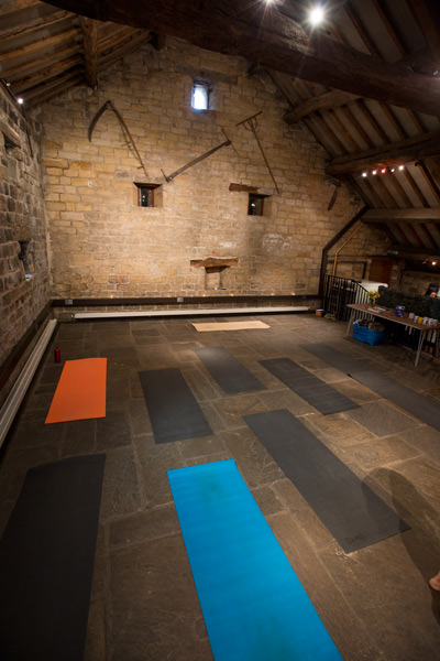 Yoga mats at langsett barn northern karma spring retreat