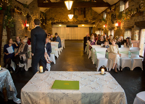 Wedding Ceremony room at Cubley Hall
