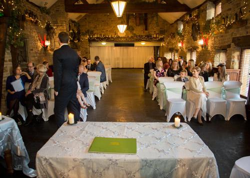 Wedding Ceremony room at Cubley Hall