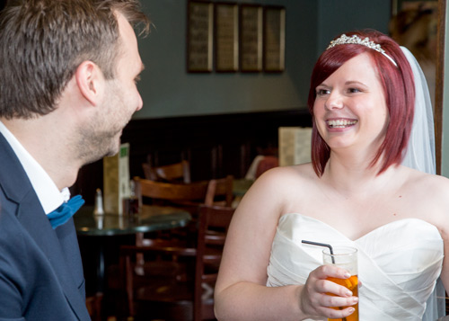Guests at the wedding reception at Cubley Hall