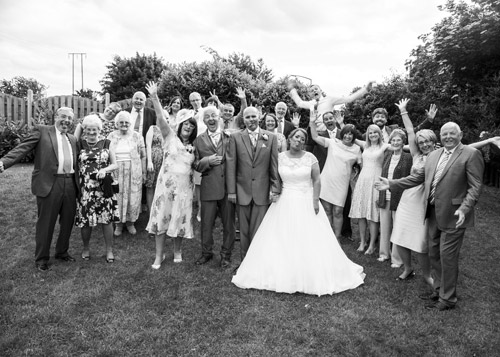 silly group wedding photo black and white bluebell banqueting suite dodworth