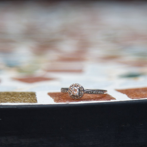 engagement ring before the ceremony