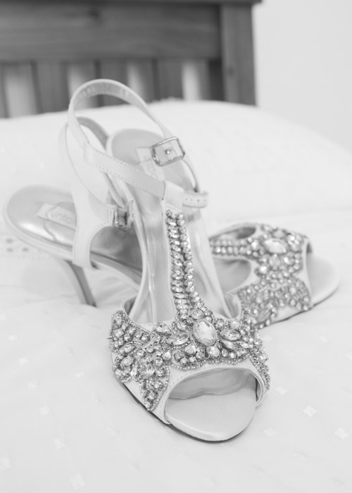 black and white brides wedding shoes