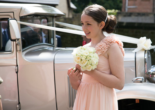 bridesmaid natural wedding photography barnsley