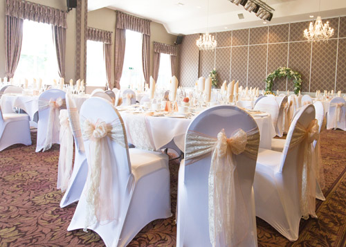 wedding breakfast room dressed burntwood court hotel