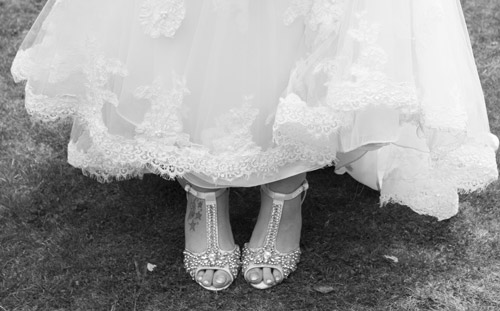 black and white brides sparkly wedding shoes