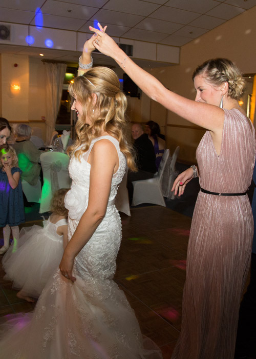 bride and guests dancing at the bluebell banqueting suite barnsley
