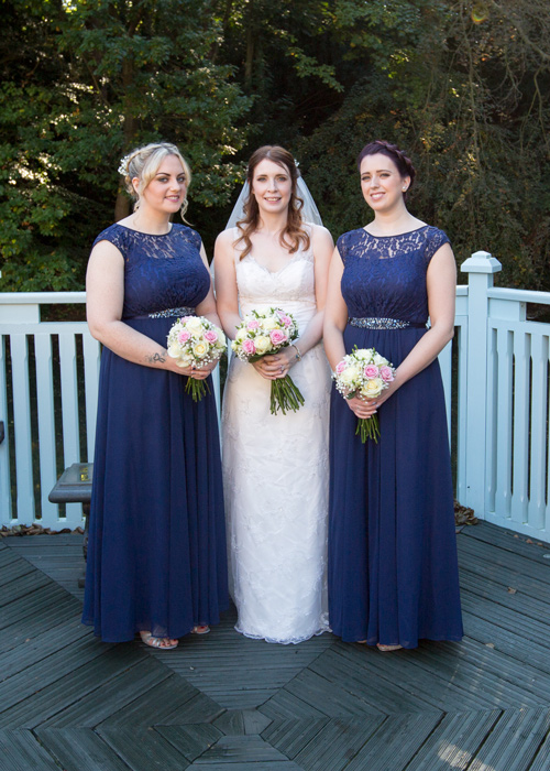 bride and bridesmaids wedding photography barnsley