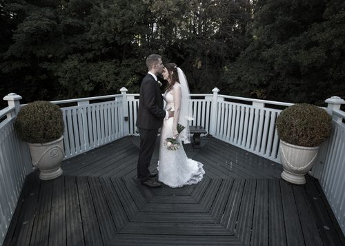 groom kissing brides forehead whitley hall hotel sheffield