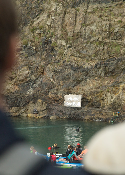 red bull sign Red bull cliff diving world series blue lagoon pembrokshire