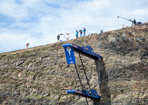 uk entry Red bull cliff diving world series blue lagoon pembrokshire