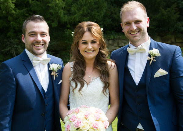 bride with groomsmen the stables high melton doncaster