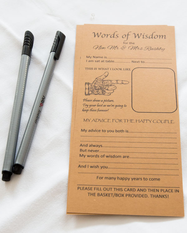 words of wisdom guestbook