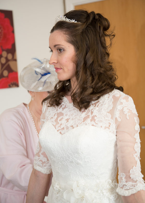 mother of the bride fastening wedding dress holiday inn barnsley