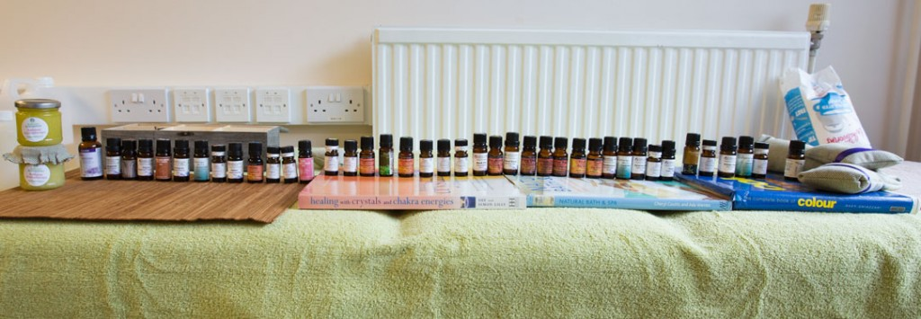Essential oils lined up aromatherapy workshop ambient mind and spirit