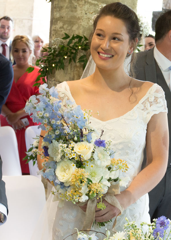 bride smiling york hospitium