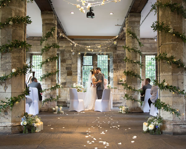 couple kissing york hospitium wedding photographer
