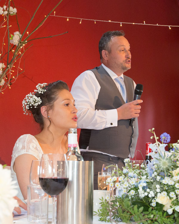 wedding speeches in reception room york hospitium