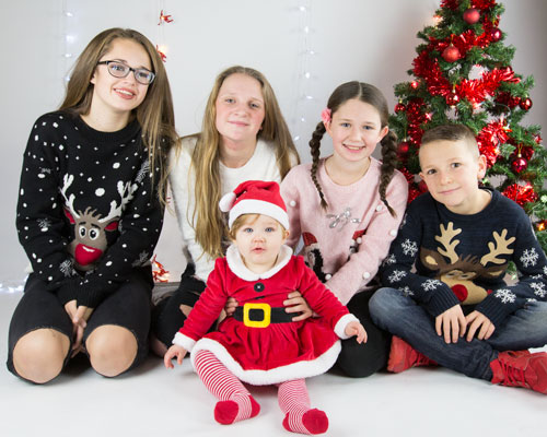 Christmas family shoot fancy dress barnsley