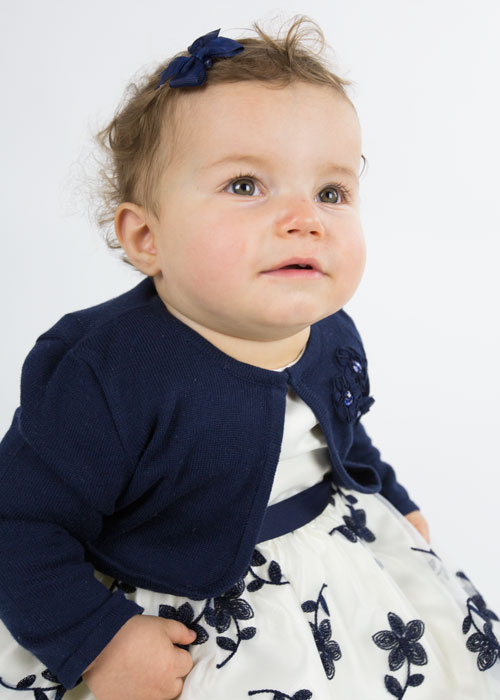 baby girl sitting in blue dress and cardigan free photo shoots barnsley