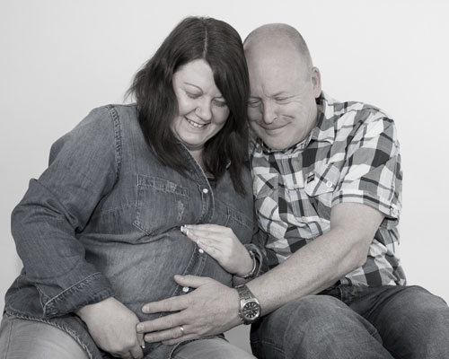 faded colour couple maternity photography barnsley