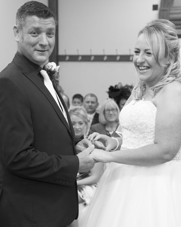 wedding photography south yorkshire exchange of rings