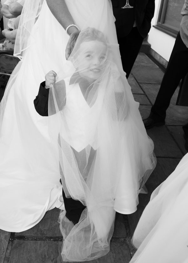 pageboy wrapped in brides veil the white bear penistone sheffield
