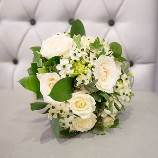 bridal bouquet white and black flowers wedding photography south yorkshire