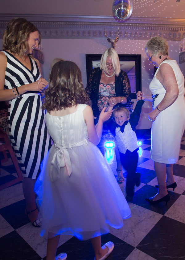 guests on dancefloor the white bear penistone sheffield wedding photographer