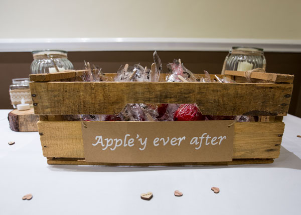 apple'y ever after wedding favours box bonfire night wedding