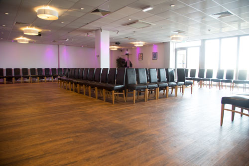 The Rigby Suite Barnsley sey up for the Marie Blanche bridal catwalk show