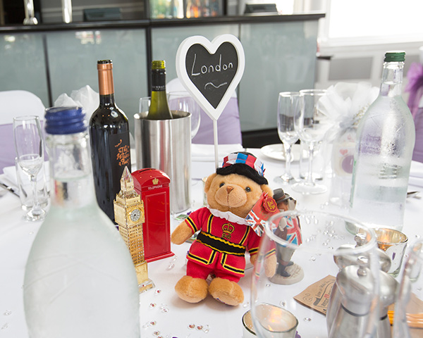 London themed table centrepiece