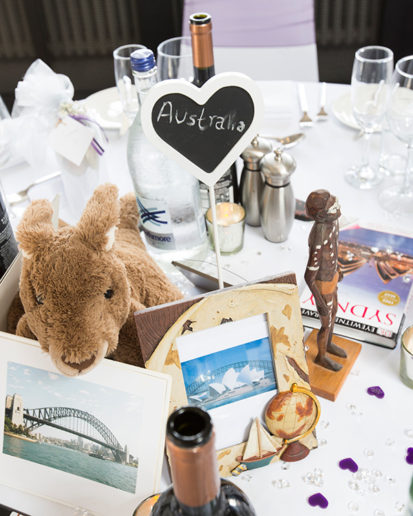 Australia themed table centrepiece