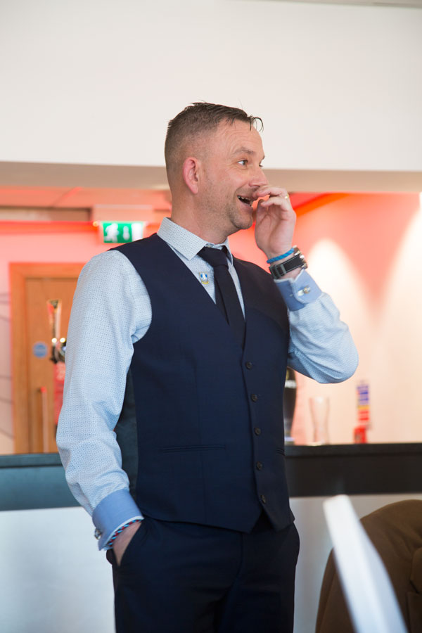 Brides Brother giving a speech at the New York stadium Rotherham