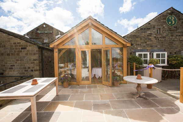 The Three Acres Inn Huddersfield wedding conservatory