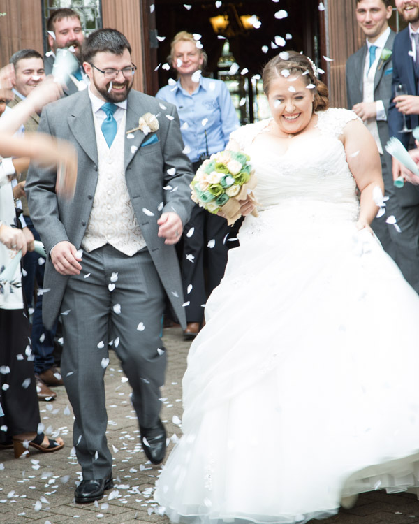 Confetti tunnel at Chester Zoo Wedding