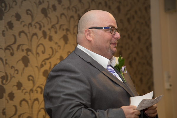 Groom giving speech during Holiday Inn Barnsley wedding