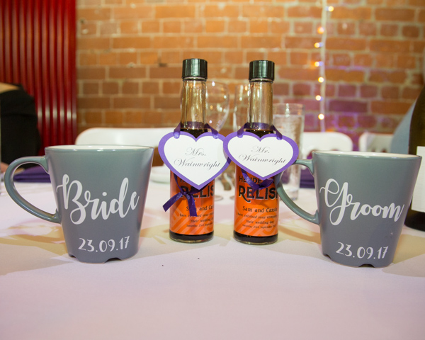 Hendersons relish personalised as wedding faours and mr&mrs mugs