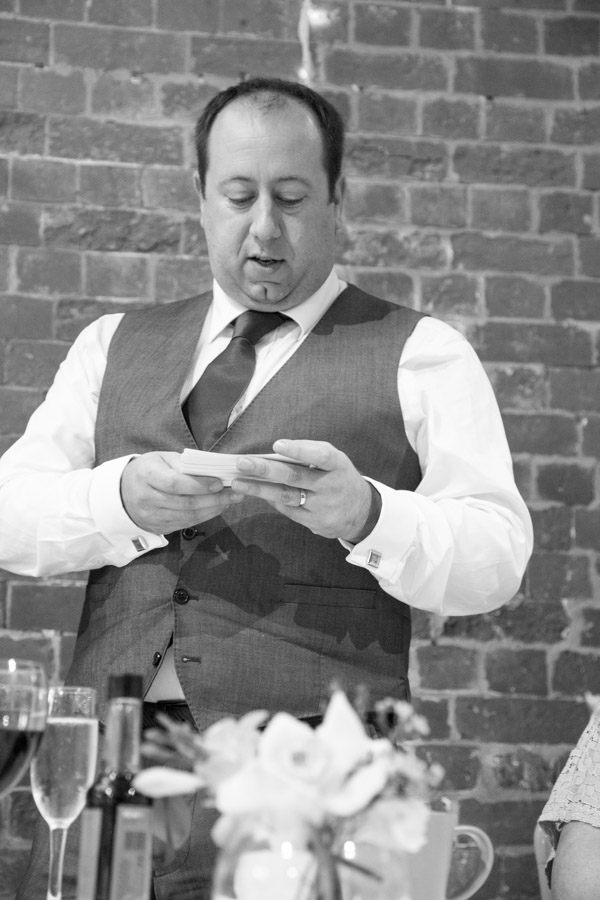 Groom giving his speech at Thoresby Courtyard wedding